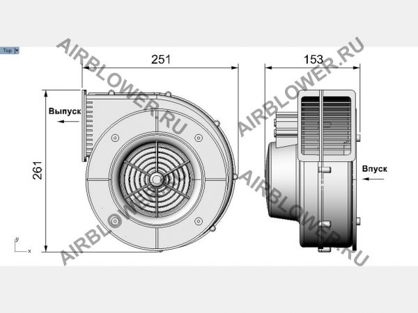 АВ-180Е - Лучший вентилятор для надувных фигур