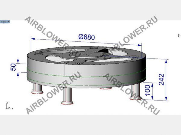 Чертёж 3D вентилятора для аэромена