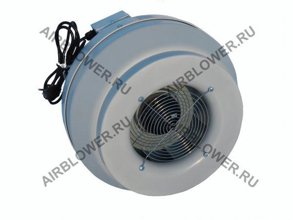 Круглый канальный вентилятор ВК 315 ЕС с решёткой и вилкой