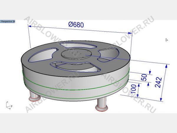 3D-чертёж вентилятора для аэромена своими руками. Дополнительно могут быть предоставлены выкройки аэроменов.