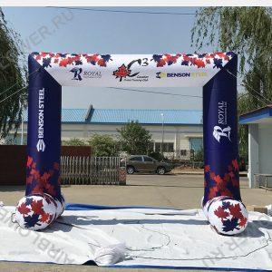 Надувная арка устойчивая 4 м