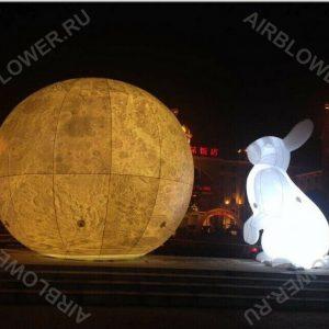 Заяц и луна надувные фигуры со светом