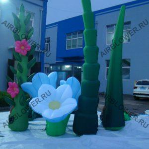 Пневмодекорации: трава цветы с использованием вентилятора AB-180E