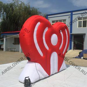 Надувной логотип - сердце с поддержкой давления АВ-180Е