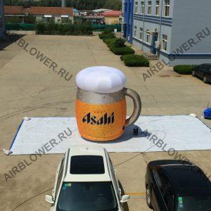 Кружка пива - надувная реклам с вентилятором AB-180E