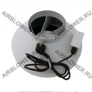 Круглый канальный вентилятор ВК 160 ЕС с решёткой и вилкой