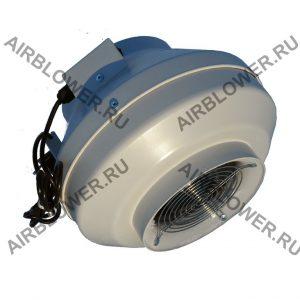 Круглый канальный вентилятор ВК 200 ЕС с решёткой и вилкой
