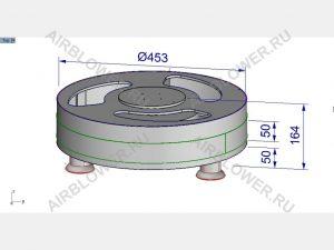 Чертёж-3D вентилятора для аэромена 2-4м своими руками
