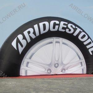 Надувная арка колесо 12м