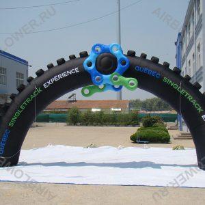 Арка надувная 10х5 велосипедное колесо с боп. элементом