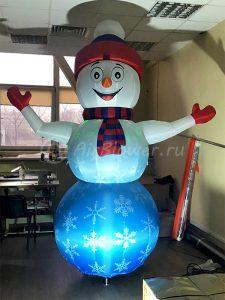Надувной Зазывала снеговик