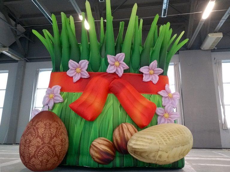 Надувная декорация Сэмэни - проростки пшеницы для Новруза