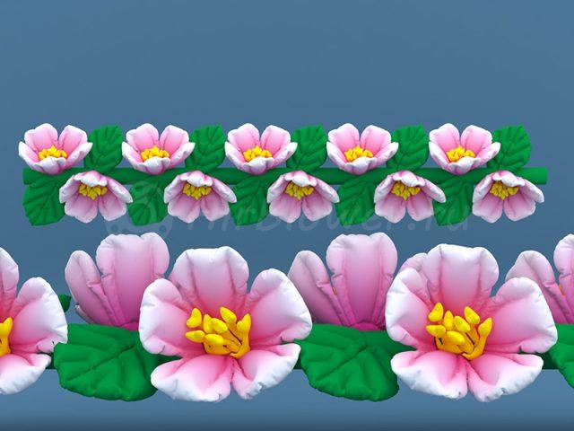 Гирлянда надувная Вишневый цвет
