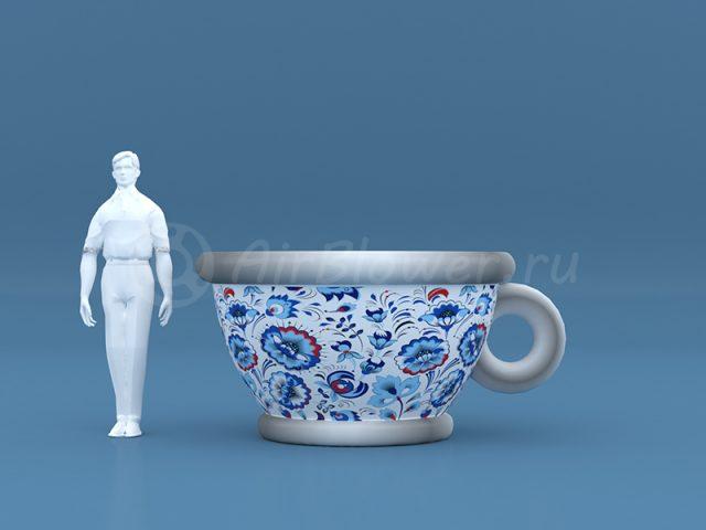 Чашка надувная Гжель