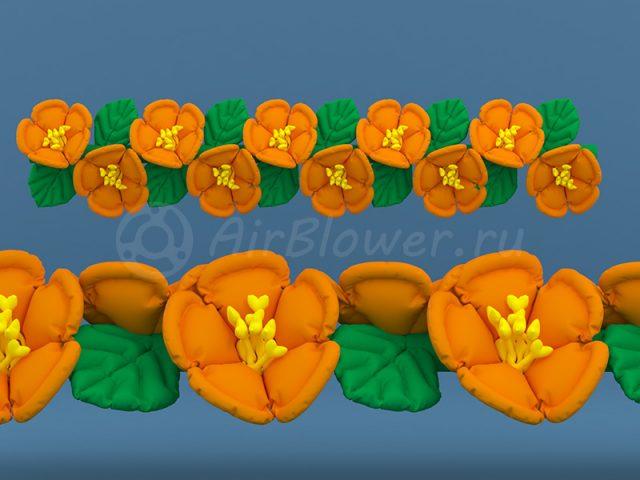 Гирлянда надувная Оранжевый цвет