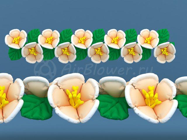 Гирлянда надувная Персиковый цвет