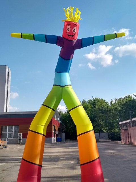 Аэромен высотой 6 метров Цветная полоска