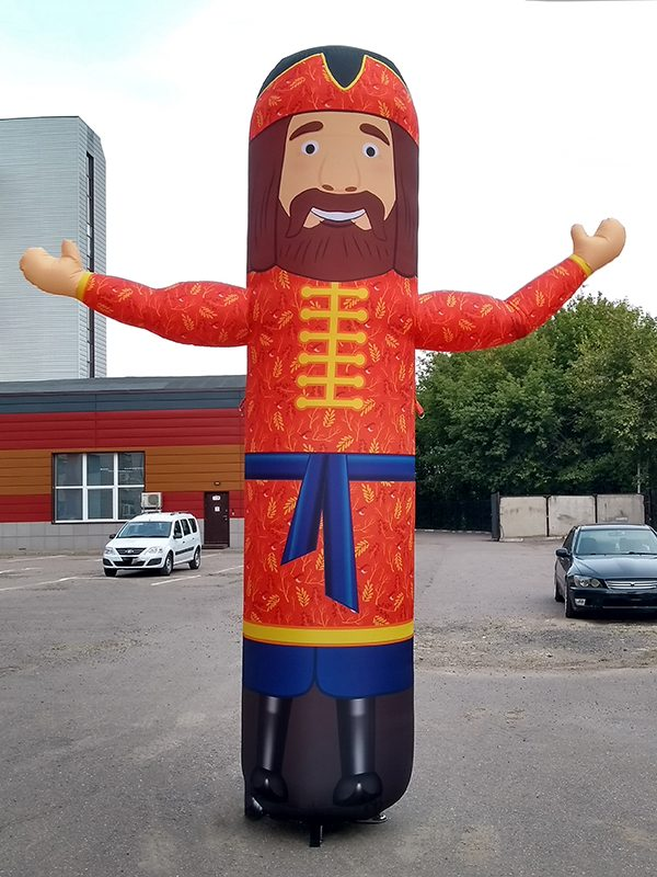 Надувная фигура зазывала - Купец, ростом 4 метра
